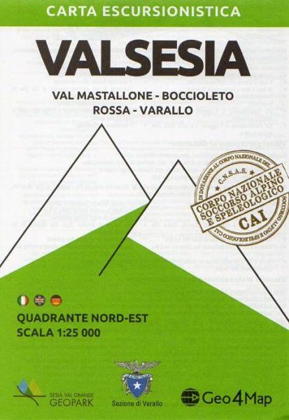 Piemont Wanderkarte: Valsesia Nordost 1:25.000 – Geo4Map Bl. 3