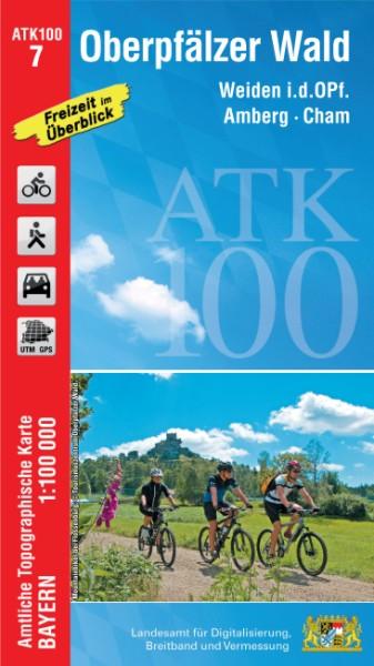 ATK100 Blatt 7 Oberpfälzer Wald, Freizeitkarte, 1:100.000 amtliche topographische Karte