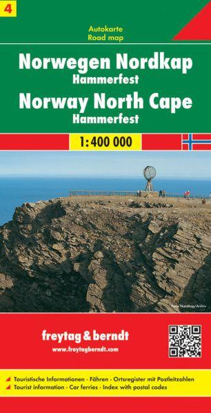 Norwegen Nordkap - Hammerfest, Straßenkarte 1:400.000, Freytag und Berndt