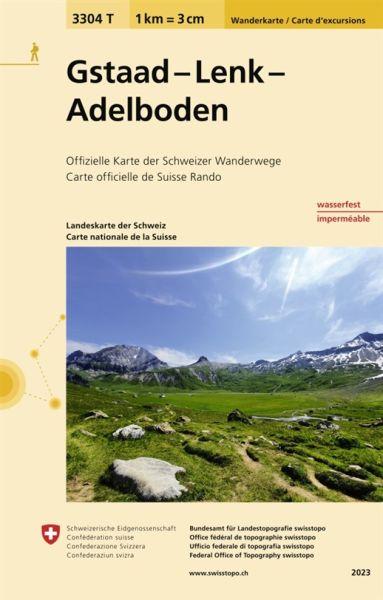 3304 T Gstaad - Lenk - Adelboden Wanderkarte 1:33.333 wetterfest - Swisstopo