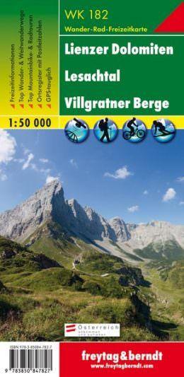 WK 182, Lienzer Dolomiten, Lesachtal, Wanderkarte 1:50.000, Freytag und Berndt