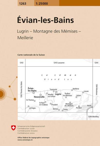 1263 Evian-les Bains topographische Karte Schweiz 1:25.000
