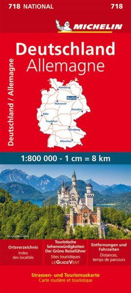 Michelin 718 Deutschland 1:750.000