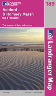 Landranger 189 Ashford & Romney Marsh, Großbritannien Wanderkarte 1:50.000