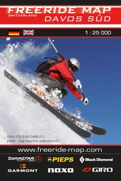 Freeride Map Davos Süd, Skitourenkarte 1:25.000