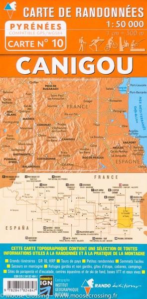 Rando Blatt 10, Canigou, Wanderkarte Pyrenäen 1:50.000