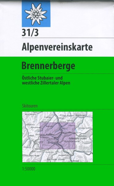 DAV Alpenvereinskarte 31/3 Brennerberge Skikarte 1:50.000