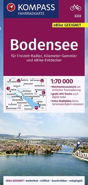 Kompass Fahrradkarte 3333 Bodensee 1:70.000