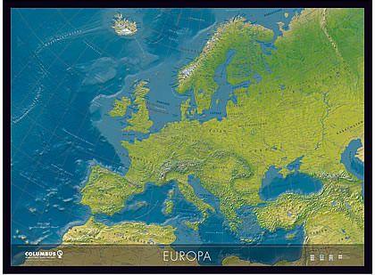 Columbus Kontinentkarte Europa, physisch / politisch – 115 cm x 85 cm
