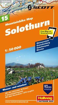 Hallwag Mountainbike Map Bl.15, Solothurn, 1:50.000, Wasser- und reißfest