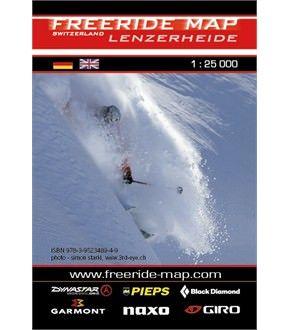 Freeride Map Lenzerheide, Skitourenkarte 1:25.000