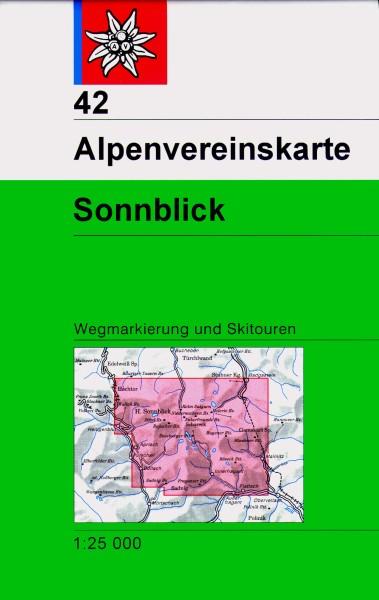 DAV Alpenvereinskarte 42 Sonnblick, Ski- und Wanderkarte 1:25.000