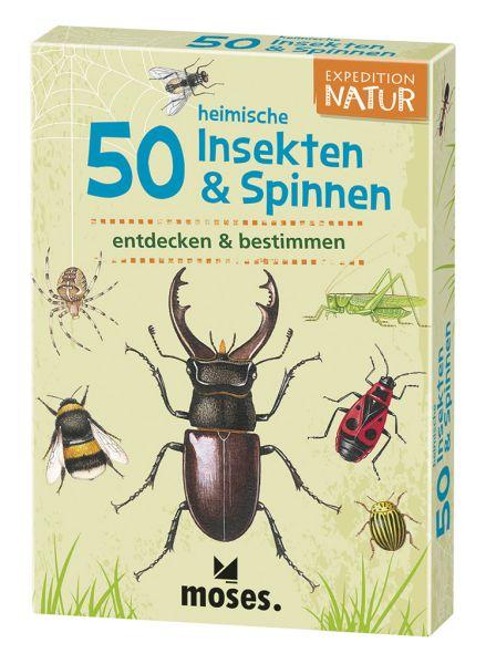 50 heimische Insekten und Spinnen entdecken und bestimmen, Moses Verlag
