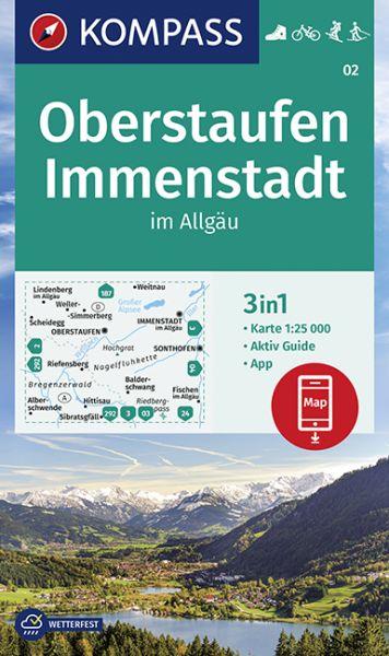 Kompass Karte 02 Oberstaufen Immenstadt Wanderkarte