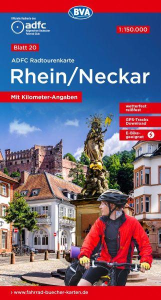 ADFC Radtourenkarte 20, Rhein/Neckar Radwanderkarte 1:150.000