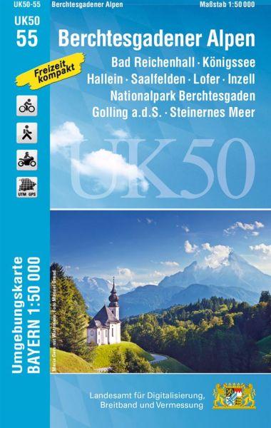 UK50-55 Berchtesgadener Alpen Rad- und Wanderkarte 1:50.000