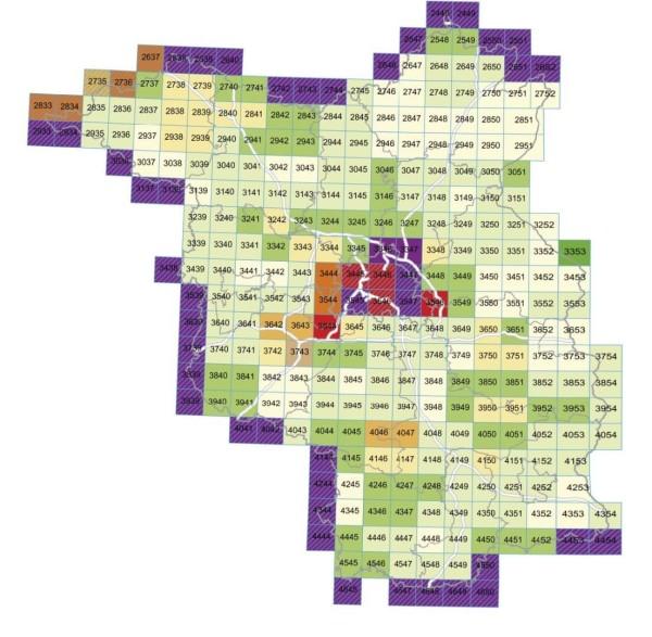 2740 Freyenstein 1:25.000 - Topographische Karte Brandenburg - TK25