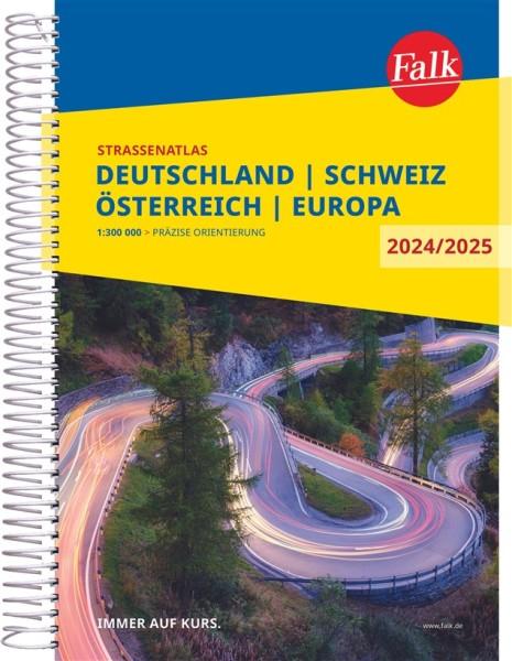 Deutschland, Schweiz, Österreich Straßenatlas, 1:300.000, Falk