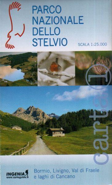 Wanderkarte Nr.1 für Bormio, Livigno im Parco Nazionale dello Stelvio im Maßstab 1:25.000