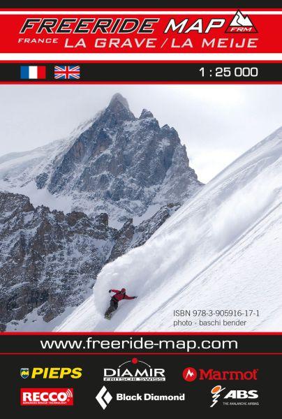 Freeride Map La Grave / La Meije, Skitourenkarte 1:25.000