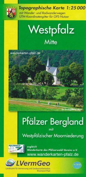 Westpfalz Mitte: Pfälzer Bergland mit Moorniederung Wanderkarte 1:25.000