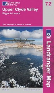 Landranger 72 Upper Clyde Valley Wanderkarte 1:50.000 - OS / Ordnance Survey