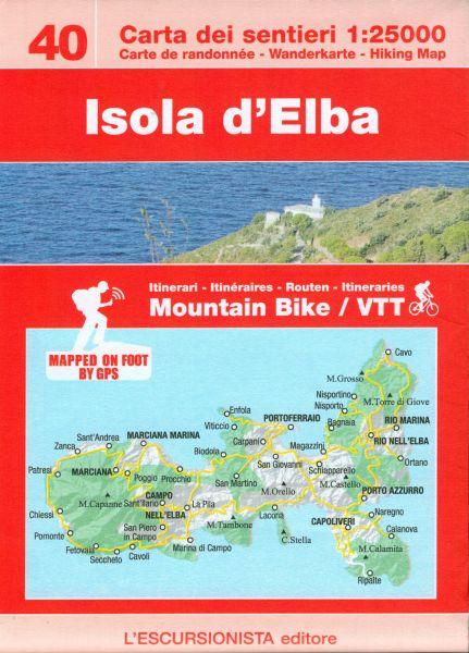 Isola d'Elba Wanderkarte 1:25.000 mit MTB-Routen, l'Escursionista Editore