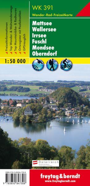 WK 391, Mattsee, Wallersee, Irrsee, Wanderkarte 1:50.000, Freytag und Berndt