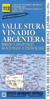 IGC 112 - Wanderkarte für Valle Stura - Vinadio - Argentera 1:25.000