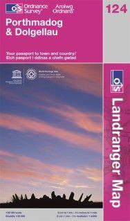 Landranger 124 Porthmadog & Dolgellau, Großbritannien Wanderkarte 1:50.000