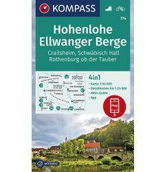 Kompass Karte 774, Hohenlohe, Ellwanger Berge 1:50.000, Wandern