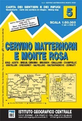 IGC 5 - Wanderkarte für Cervino Matterhorn e Monte Rosa 1:50.000