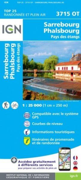 IGN 3715 OT Saverne, Sarrebourg, Frankreich topographische Wanderkarte 1:25.000