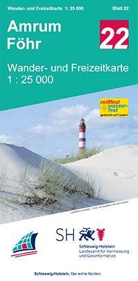 Blatt 22 Insel Amrum - Insel Föhr Wander- und Freizeitkarte 1:25.000