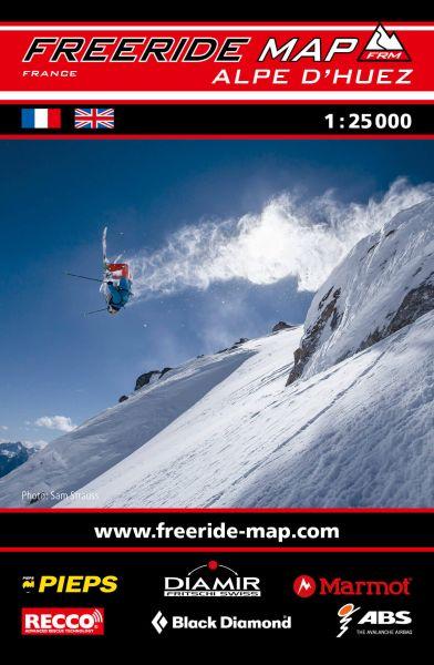 Freeride Map Alpe d'Huez, Skitourenkarte 1:25.000
