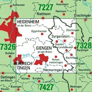7327 GIENGEN A.D.BRENZ topographische Karte 1:25.000 Baden-Württemberg, TK25