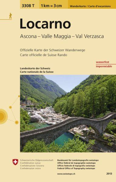 3308 T Locarno, topographische Wanderkarte Schweiz 1:33.333, wasser- und reißfest