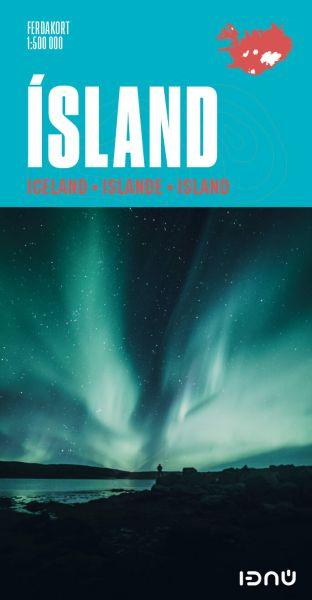 Ferdakort: Island touristische Straßenkarte 1:500.000