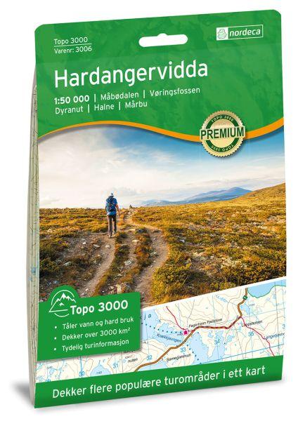 Hardangervidda topographische Wanderkarte 1:50.000 Bl. 3006 - Nordeca Topo 3000