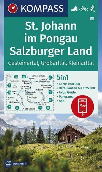 Kompass Karte 80 St Johann Im Pongau Wanderkarte Radkarte