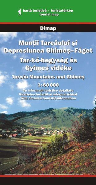 Karpaten Wanderkarte: Tarcau-Gebirge und Ghimes Ebene, Dimap