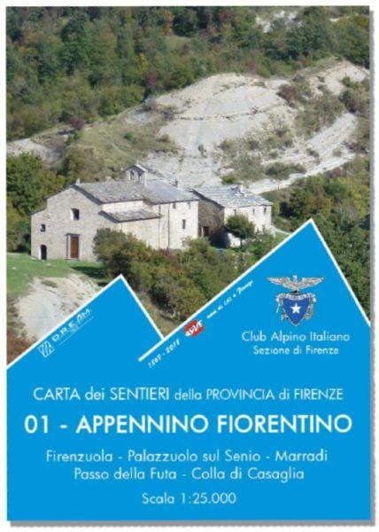 01 Appennino Fiorentino, Wanderkarte 1:25.000, D.R.E.A.M