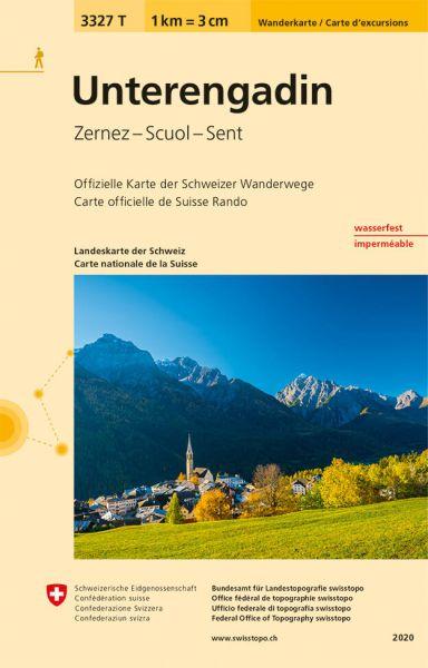3327 T Unterengadin Wanderkarte 1:33.333 wetterfest - Swisstopo