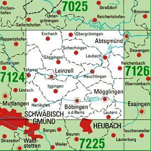 7125 MÖGGLINGEN topographische Karte 1:25.000 Baden-Württemberg, TK25