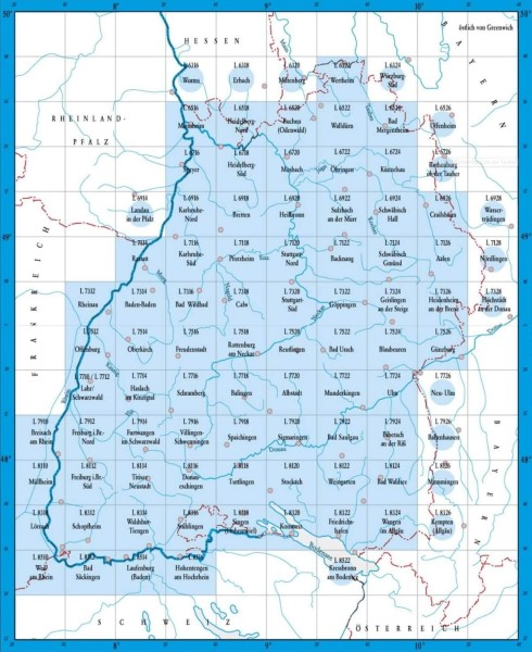 L7710 12 Lahr Topographische Karte 1 50 000 Tk50 Bw