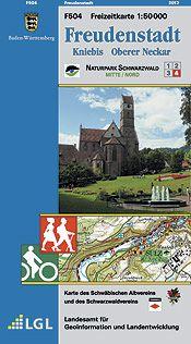 Freudenstadt Freizeitkarte in 1:50.000 - F504 mit Rad- und Wanderwegen
