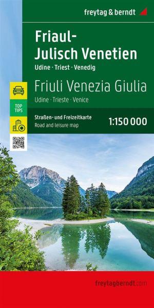 Friaul - Julisch-Venetien Straßenkarte 1:150.000, Freytag und Berndt
