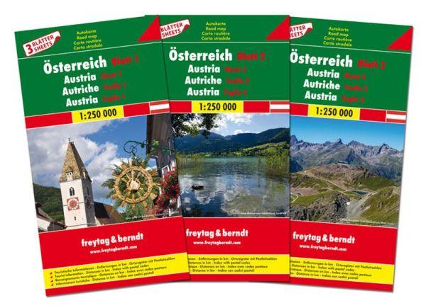 Österreich Kartenset 1:250.000, Freytag und Berndt