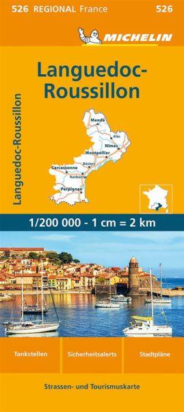 Michelin regional 526 Languedoc-Roussillon Straßenkarte 1:200.000