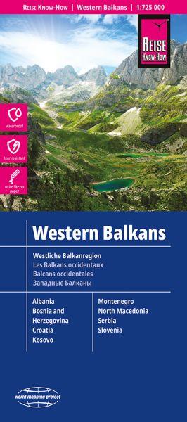Westliche Balkanregion Landkarte 1:725.000, Reise Know-How